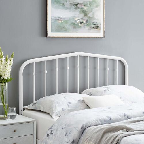 Lennon Full Metal Headboard in White