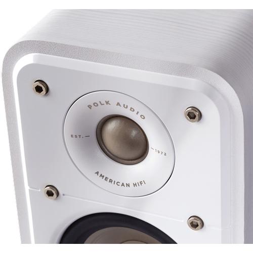 American HiFi Home Theater Compact Satellite Surround Speaker in Winter White