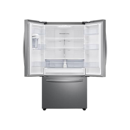 28 cu. ft. Large Capacity 3-Door French Door Refrigerator with AutoFill Water Pitcher in Stainless Steel
