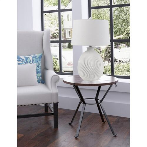 Cal Lighting & Accessories - 150W 3 Way Olbia Ceramic Table Lamp