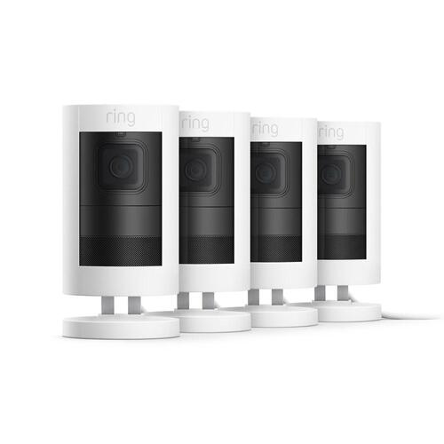 4-Pack Stick Up Cam Elite with PoE Adapter - Black