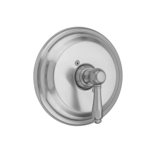 Polished Nickel - Round Step Plate With Smooth Lever Trim For Pressure Balance Cycling Valve (J-CSV)
