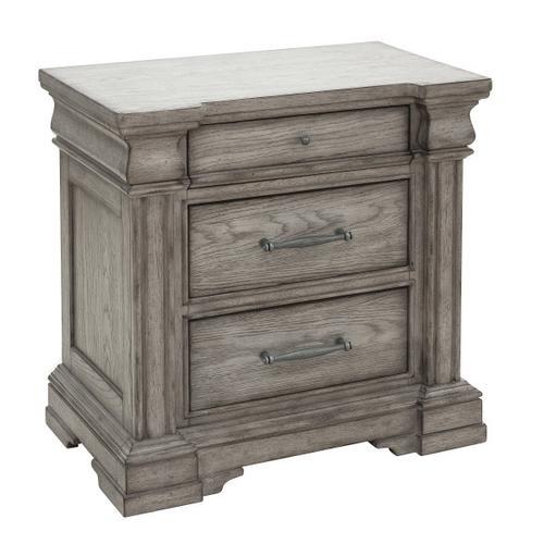 Pulaski Furniture - Madison Ridge 3 Drawer Nightstand in Heritage Taupe