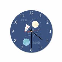 Moon Back Round Acrylic Wall Clock