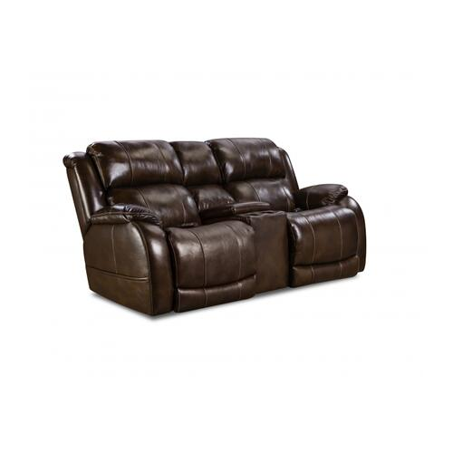 170-57-21  Power Console Loveseat     ***TOP-GRAIN LEATHER***