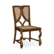 View Product - Continental chair with panelled caned back (Side)