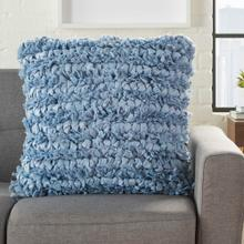"Shag Dl658 Ocean 20"" X 20"" Throw Pillow"