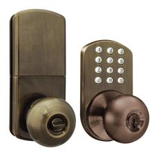See Details - Touchpad Electronic Doorknob (Antique Brass)