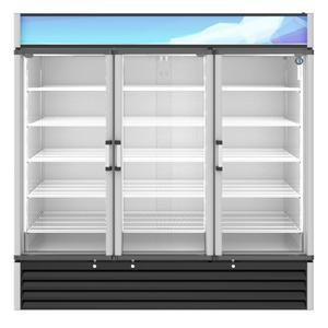 HoshizakiRM-65-HC, Refrigerator, Three Section Glass Door Merchandiser
