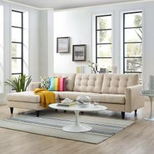 See Details - Empress Left-Facing Upholstered Fabric Sectional Sofa in Beige