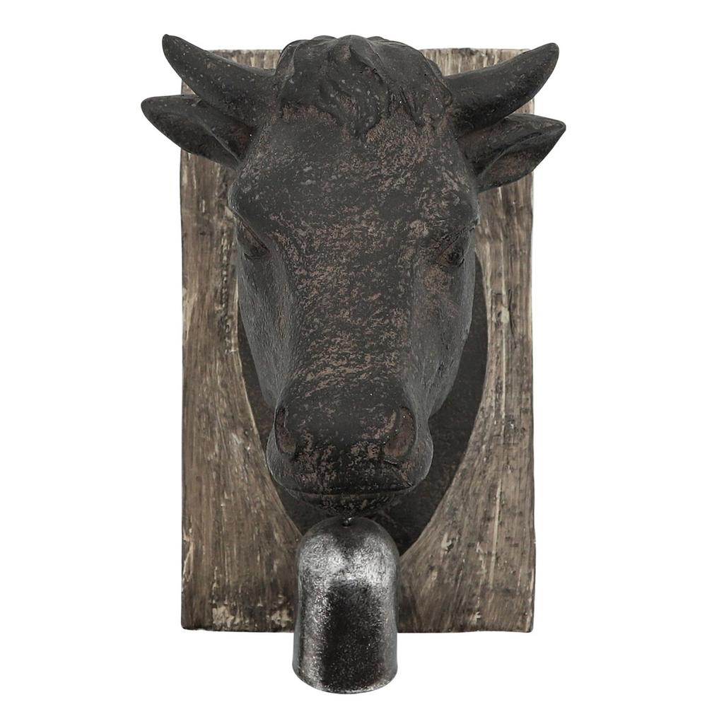 Cow Head With Bell Wall Decor