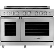 "48"" Gas Pro Range, Silver Stainless Steel, Liquid Propane"
