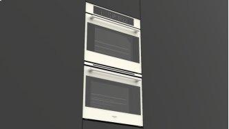 """30"""" Touch Control Double Oven - White Glass"""