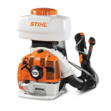 A powerful backpack sprayer/duster that easily converts from liquid to granular applications.