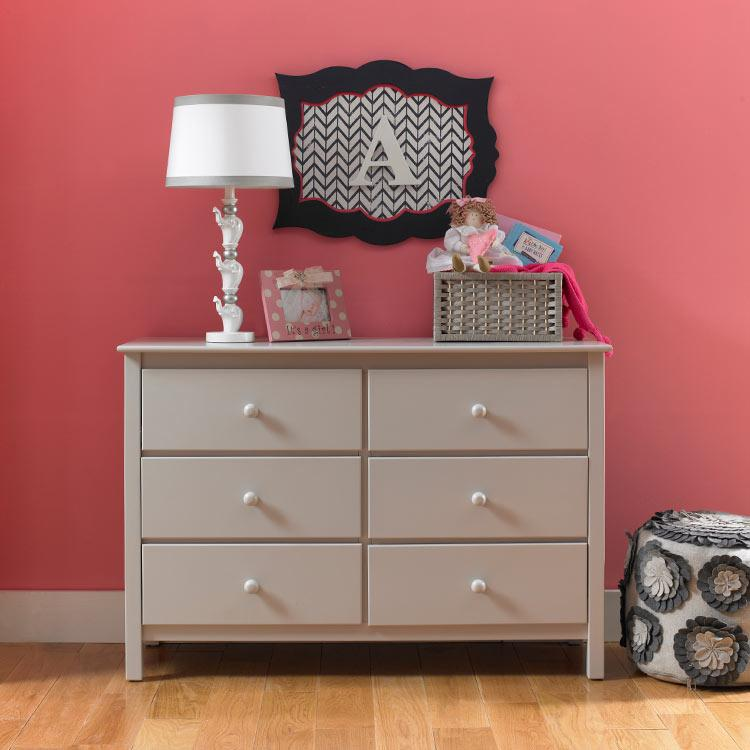 View Product - Fisher-Price Double Dresser, Misty Grey