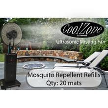 View Product - CoolZone Dry Mist Fan Mosquito Mats - 20 Pack