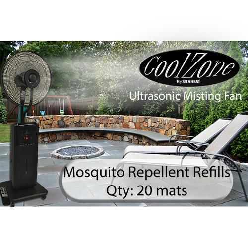 CoolZone Dry Mist Fan Mosquito Mats - 20 Pack