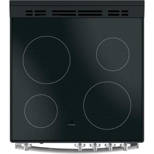 """GE Appliances - GE® 24"""" Free-Standing/Slide-in Front Control Range with Steam Clean and Large Window"""