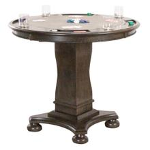 """See Details - Vegas Counter Height Dining, Chess and Poker Table 42"""" - Distressed Gray Wood"""