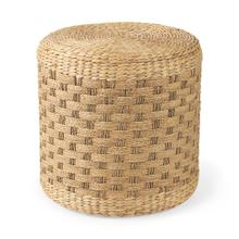See Details - Michelle 17.7L x 17.7W x 17.7H Light Brown Woven Seagrass Round Pouf