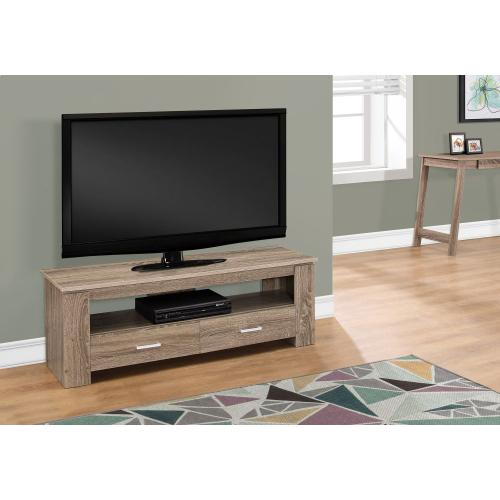 """Gallery - TV STAND - 48""""L / DARK TAUPE WITH 2 STORAGE DRAWERS"""
