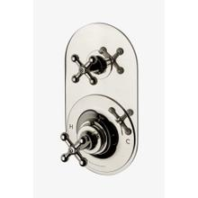 Dash Metal Cross Handle Thermostatic with Metal Cross Handle Shutoff Trim in Sovereign
