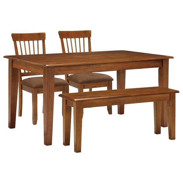 See Details - Dining Table and 2 Chairs and Bench