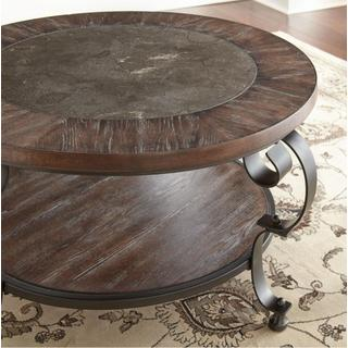 See Details - Madrid Round Cocktail Table w/ Blue Stone