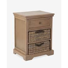 Simone Grey Side Table (1 drawer+2 baskets) (20X14X25.2)