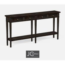 Dark Ale Four Drawer Console