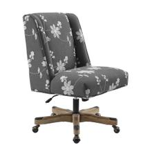 Upholstered Office Chair, Gray Embroidered