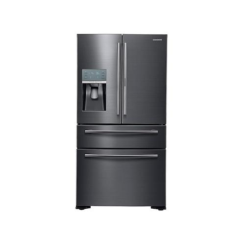 22 cu. ft. Food Showcase Counter Depth 4-Door French Door Refrigerator in Black Stainless Steel