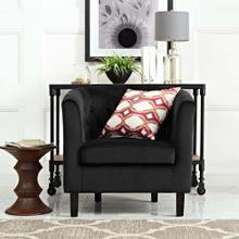 Prospect Performance Velvet Armchair in Black