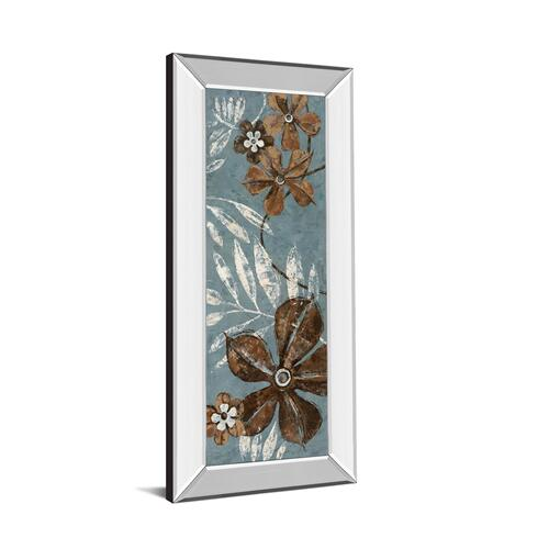 """Denim Garden I"" By Maria Donovan Mirror Framed Print Wall Art"