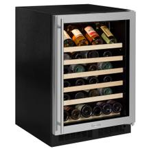 24-In Built-In Single Zone Wine Refrigerator with Door Swing - Right