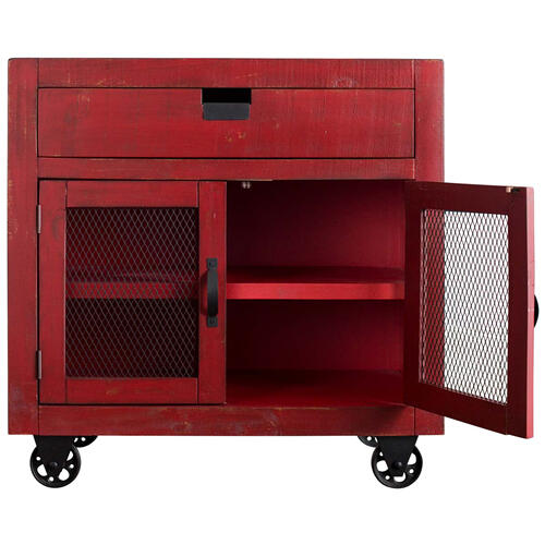 Industrial 2-Door Accent Chest