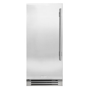 True Residential - 15 Inch Solid Stainless Door Left Hinge Clear Ice Machine