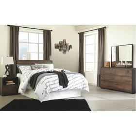 Queen Panel Headboard With Mirrored Dresser