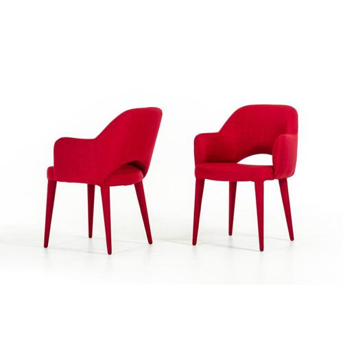 Modrest Williamette Modern Red Fabric Dining Chair