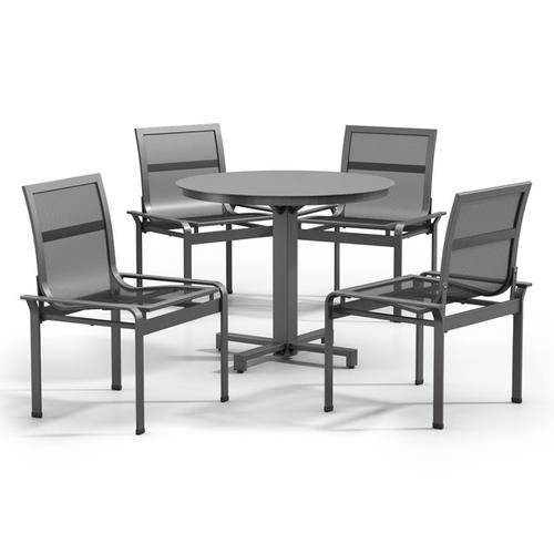 Armless Cafe Chair - Metal