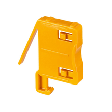 Dust-container lock for vacuum cleaners