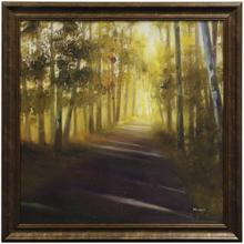 See Details - WALK AWAY  31in w. X 31in ht.  Promotional Textured Framed Print  Made in USA