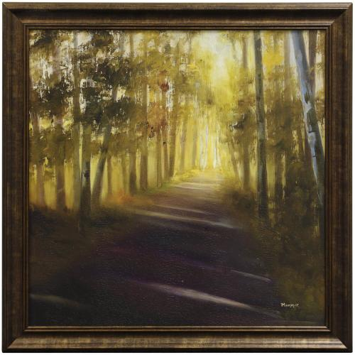 Style Craft - WALK AWAY  31in w. X 31in ht.  Promotional Textured Framed Print  Made in USA