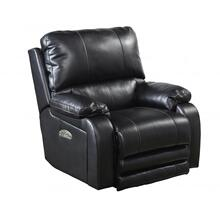 Power Headrest Power Lay Flat Recliner-BLACK
