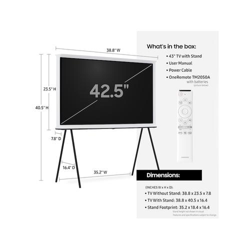 "43"" Class The Serif QLED 4K UHD HDR Smart TV"