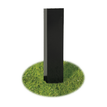 View Product - PAINTED STEEL IN-GROUND POST BL48G