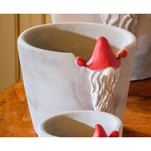 Medium Santa Gnome Planter - Set of 1
