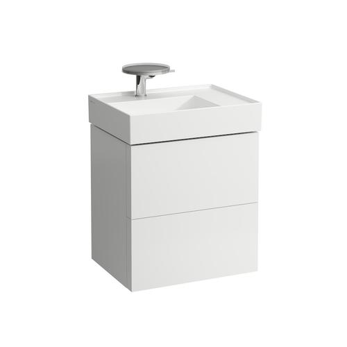 Grey Blue Vanity Unit with two drawers for washbasin shelf right 810334 (incl. organiser)