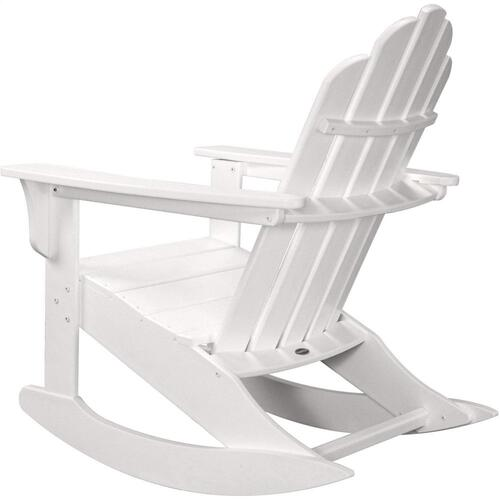 Hanover All-Weather Adirondack Rocking Chair in White, HVLNR10WH