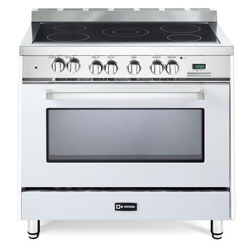"White 36"" Electric Single Oven Range"